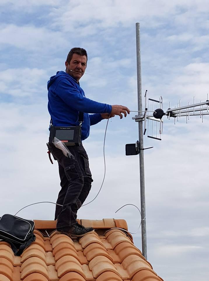Pose d'antenne